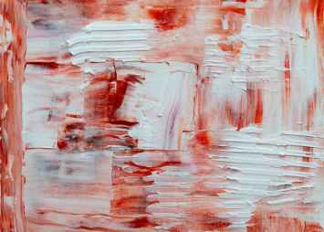 white and red abstract painting